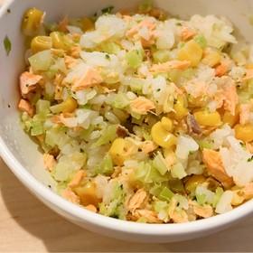 時短離乳食*ブロッコリーと鮭の混ぜご飯