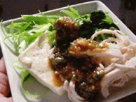 豆腐サラダ(美味しい味噌だれ)