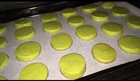 抹茶のアイスボックスクッキー