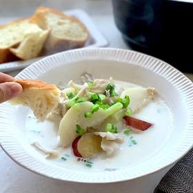 具沢山!蕪と舞茸の豆乳塩麹スープ