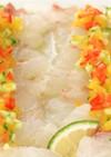 さわやかな酸味が決め手!鯛のカルパッチョ