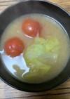 簡単☆レタスとトマトの味噌汁