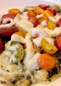 バジルソースのマルゲリータピザ