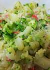 ブロッコリーとカニかまのポテトサラダ