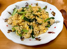 小松菜と卵の炒飯