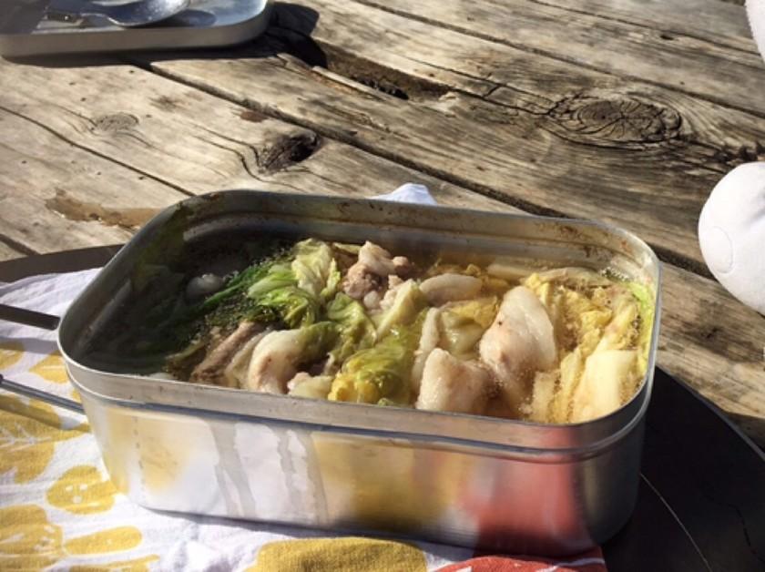 メスティンで豚肉と白菜のミルフィーユ鍋