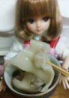 リカちゃん♡中華雲呑スープ。.:✤*゜