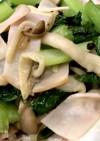 小松菜としめじとハムのペペロンチーノ風