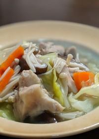 鶏肉と野菜のあったかスープ