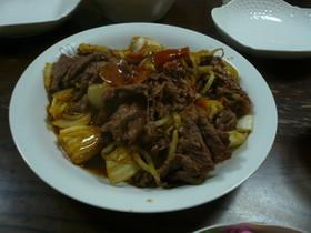 牛肉と野菜のオイスターソース炒め