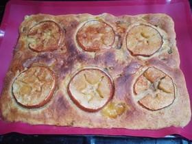 完熟柿の簡単アップルパイ