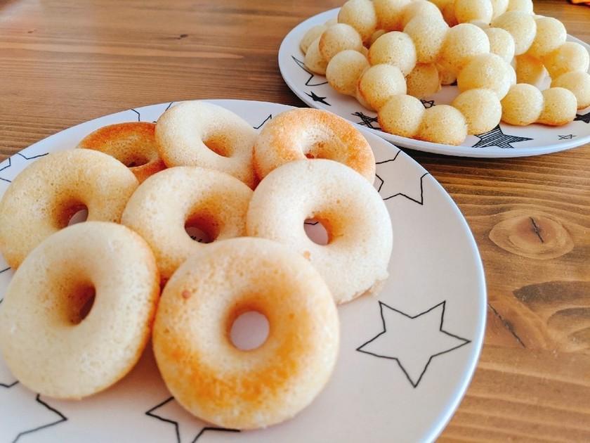 卵・牛乳不使用の簡単焼きドーナツ!!
