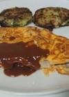 スライスチーズでオムレツ焼きポークピカタ