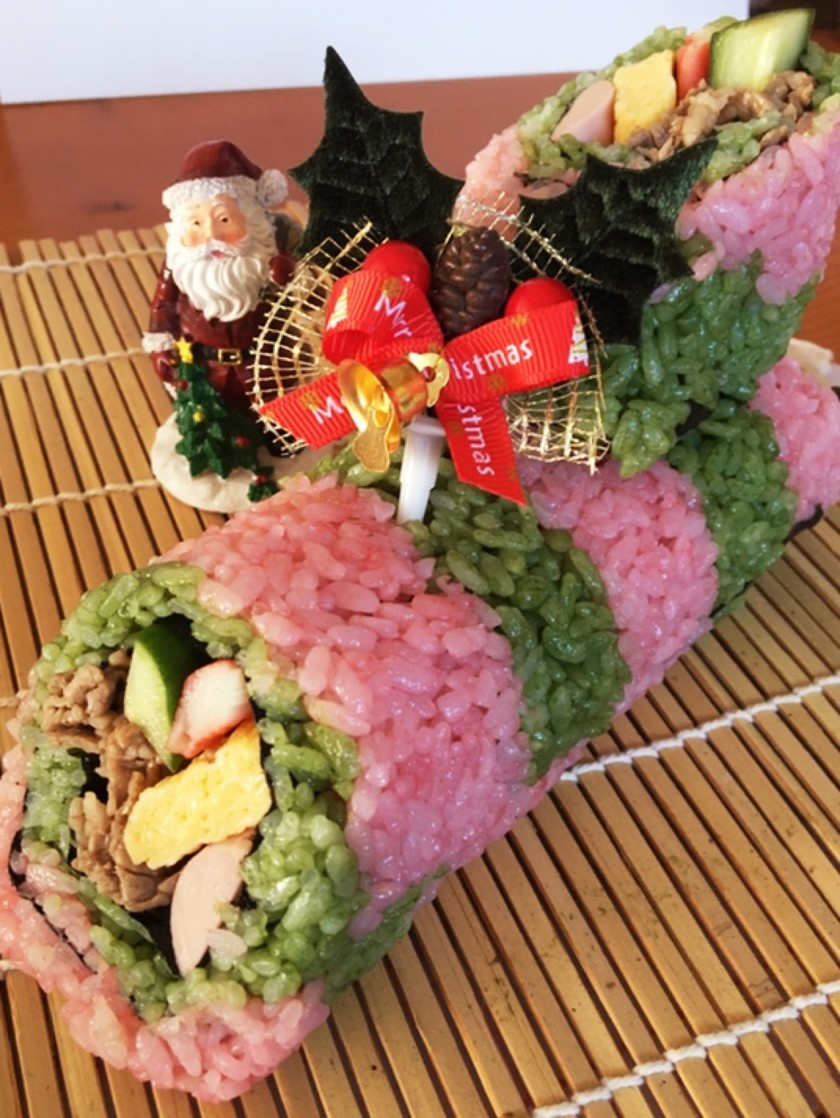 クリスマスお寿司でブッシュドノエル