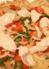 米粉と酒粕スプレッドのヴィーガンピザ