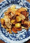 豚肉とサツマイモとエリンギの甘辛炒め