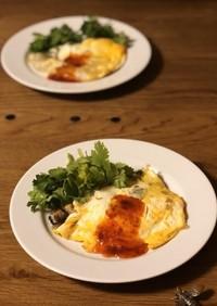 牡蠣の卵焼き