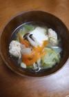 白菜と鶏団子のお鍋