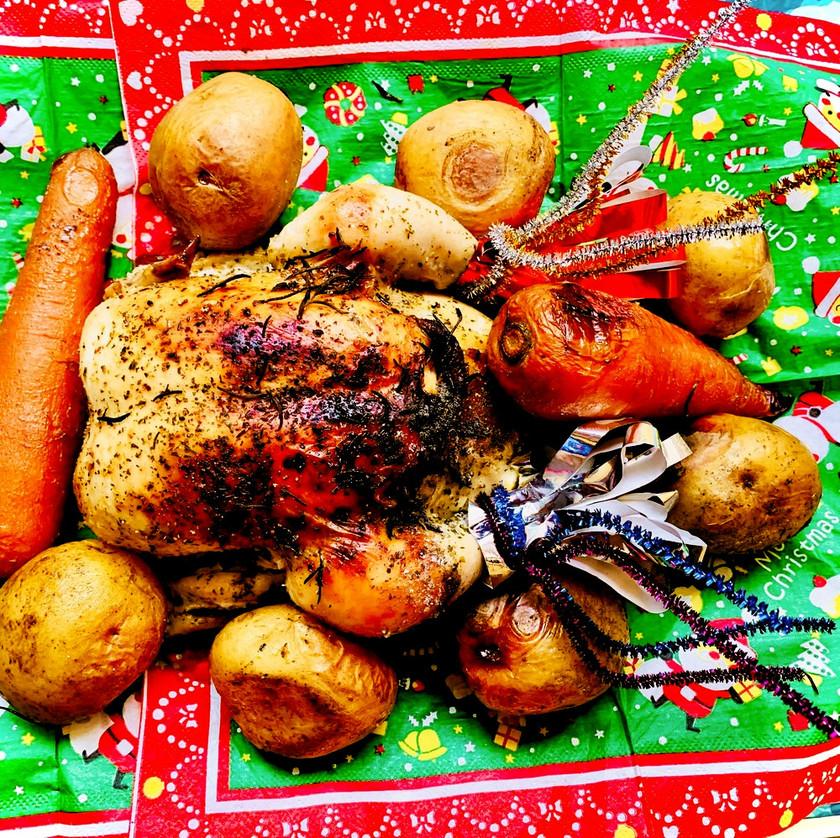 スタッフドチキン 丸鶏焼 クリスマス