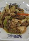 牛肉と厚揚げ中華炒め