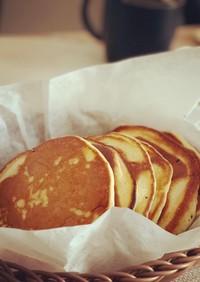 強力粉とタピオカ粉とイーストのパンケーキ