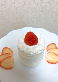 10分☆一歳の誕生日ケーキ☆豆乳ホイップ