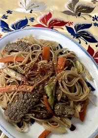 牛肉と野菜のチャプチェ風炒め