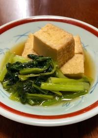 油揚げ(厚揚げ)と小松菜の煮物*副菜
