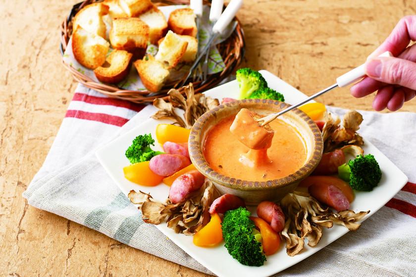 トマトチーズフォンデュ