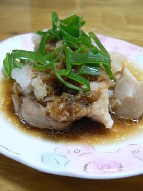 レンジで簡単!!茹で鶏のおろしポン酢