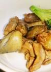 鶏肉と菊芋のバタポン炒め