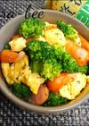 簡単♡ブロッコリーと卵の塩バター炒め