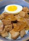 レンチンで簡単!豚角煮丼