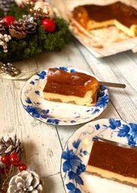 林檎のシナモン煮入り☆バスクチーズケーキ