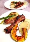 スペアリブと野菜のココットプレート焼き