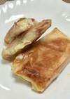 酒粕とハム&チーズの春巻きの皮包み焼き