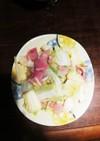 ベーコンと白菜のおろしニンニク炒め