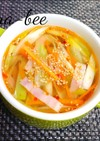 ブロッコリーの茎で節約ピリ辛中華スープ