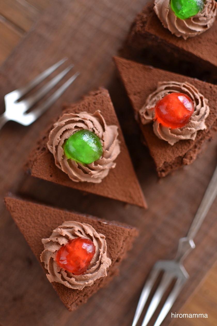 本格バレンタイン♡半熟チョコチーズケーキ