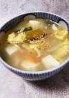 かぶとニラの中華ふわふわ玉子スープ