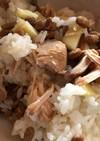 納豆と鶏胸肉のさっぱり煮の混ぜご飯