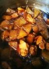 豚の角煮の汁で★大根と鶏肉の煮物