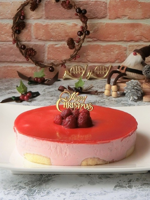 電子レンジ★ラズベリームースケーキ