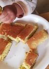 手づかみ食べ☆卵焼き器でホットケーキ