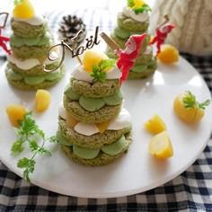 抹茶のツリーケーキ