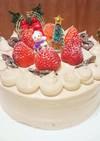 苺のチョコレートショートケーキ