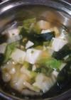 うどんスープでもう一品野菜スープ