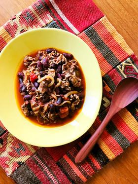 超簡単♪牛肉と豆のクミントマト煮