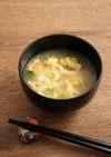 簡単!天ぷらと豆苗のお味噌汁