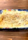燻製鮭のカルボナーラ(レンジ調理水切不要